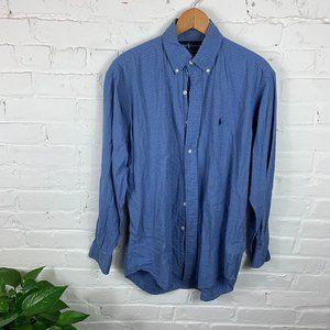 Ralph Lauren Check Button-Down Shirt Blue Size S